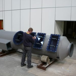 Fume scrubber manufacture at the UK factory