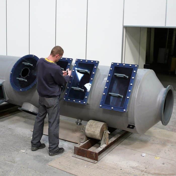 Fume scrubber manufacture at our Manchester factory