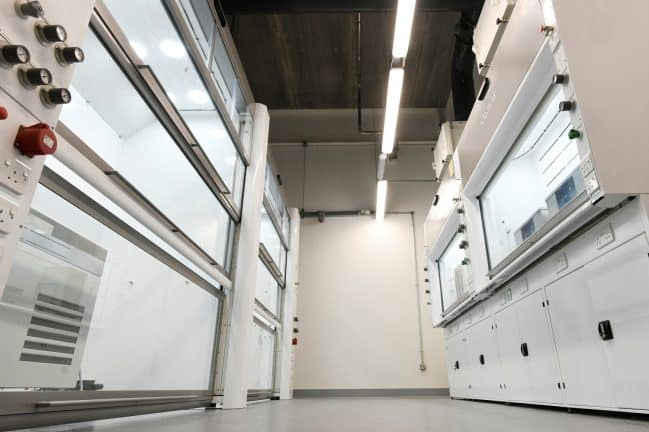 Extra-large walk-in fume cupboards, GEIC, Clean Air fume cupboards