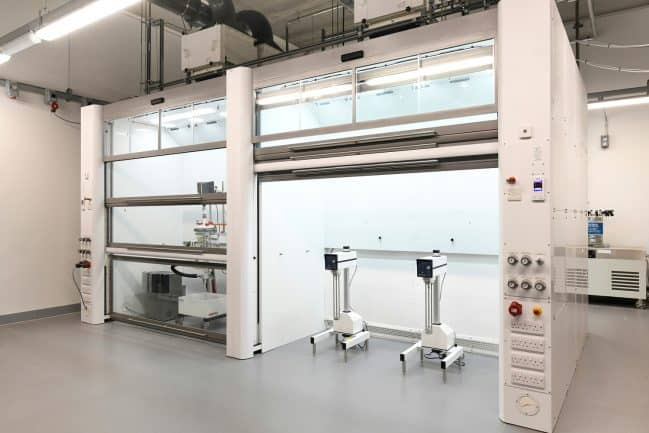 Extra-large walk-in fume cupboards, GEIC