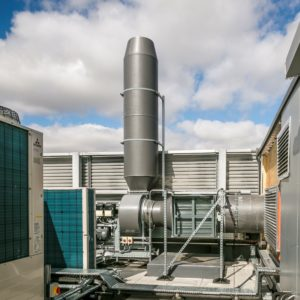 Fan and ductwork system for APEX fume cupboards
