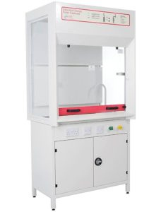 School fixed recirculation filtration fume cupboard