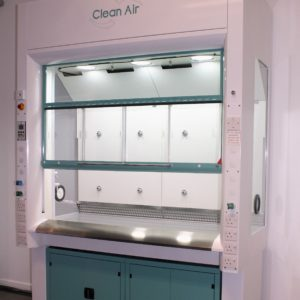 APEX Fume cupboard modified with corporate colours
