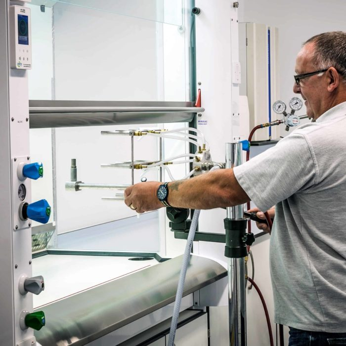 APEX fume cupboard commissioning to assure containment