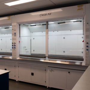 High Performance Radius Profile fume cupboard for research