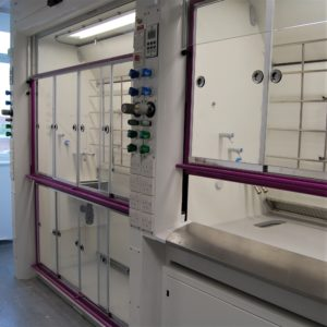 High Performance Radius Profile fume cupboard walk-in