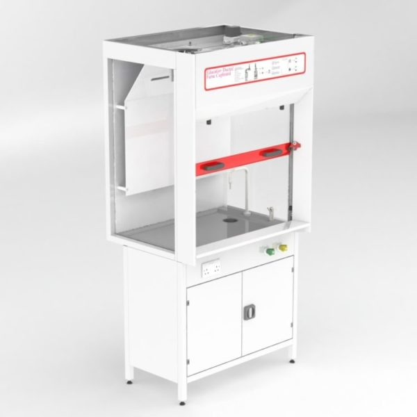 Cost-effective Clean Air School fixed ducted fume cupboard 1 m