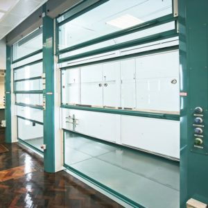 Standard fume cupboard as large walk-in fume cupboard