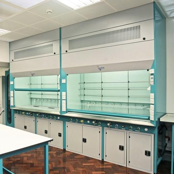 Standard fume cupboard in bespoke colour