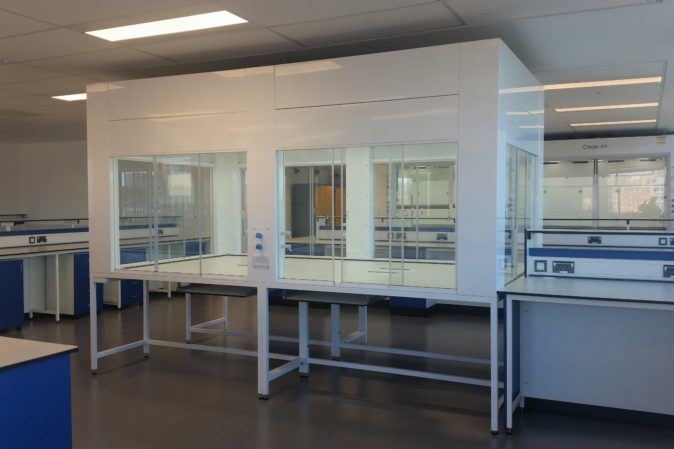 Ventilated enclosure for research labs