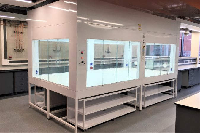Ventilated enclosure in research lab