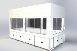 Ventilated enclosure render depicting Clean Air design ability
