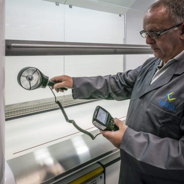 Clean Air on-site airflow testing for fume cupboard servicing and commissioning