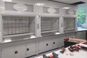 fume cabinet, High Performance radius profile fume cupboard
