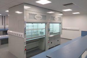 radius profile fume cupboard, Almac
