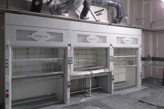Almac, walk-in fume cupboard