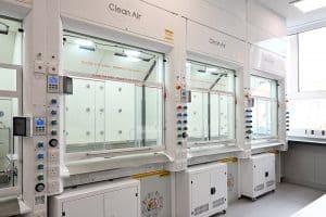 APEX 2 fume cupboards, fume hoods, containment, liverpool university, VAV